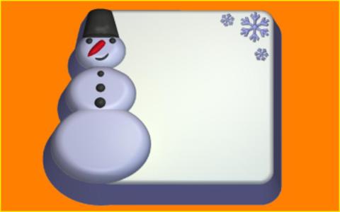 Снеговик п/к. Форма для мыла пластиковая