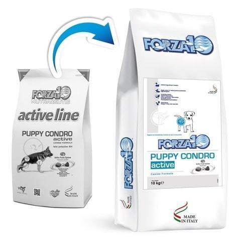 купить FORZA10 ActiveLine DOG Puppy Condro Active сухой корм для щенков всех пород с проблемами опорно-двигательного аппарата 10 кг