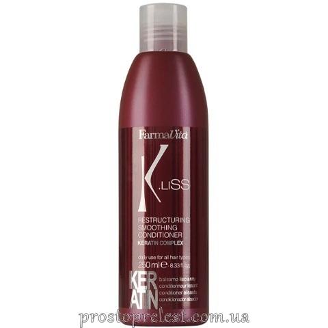 Farmavita K.Liss Restructuring Smoothing Conditioner -Кондиціонер з кератином після випрямлення волосся