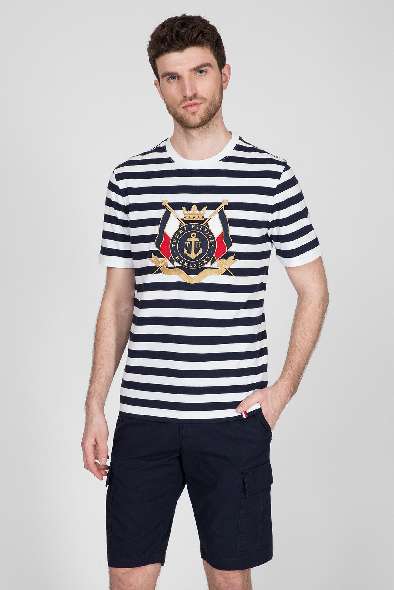 Мужская футболка в полоску ANCHOR STRIPE RELAXED Tommy Hilfiger