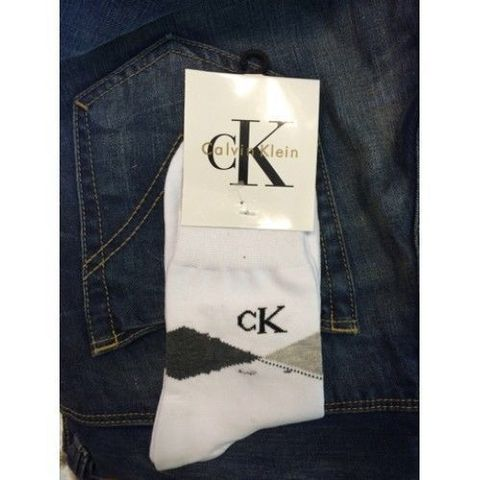 Мужские носки белые Calvin Klein MEN