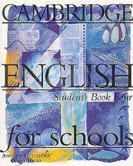 Cambridge English for Schools 4 Student's Book