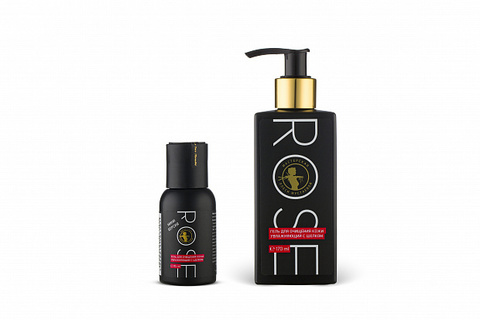 Rose гель для очищения кожи увлажняющий с шелком 170мл