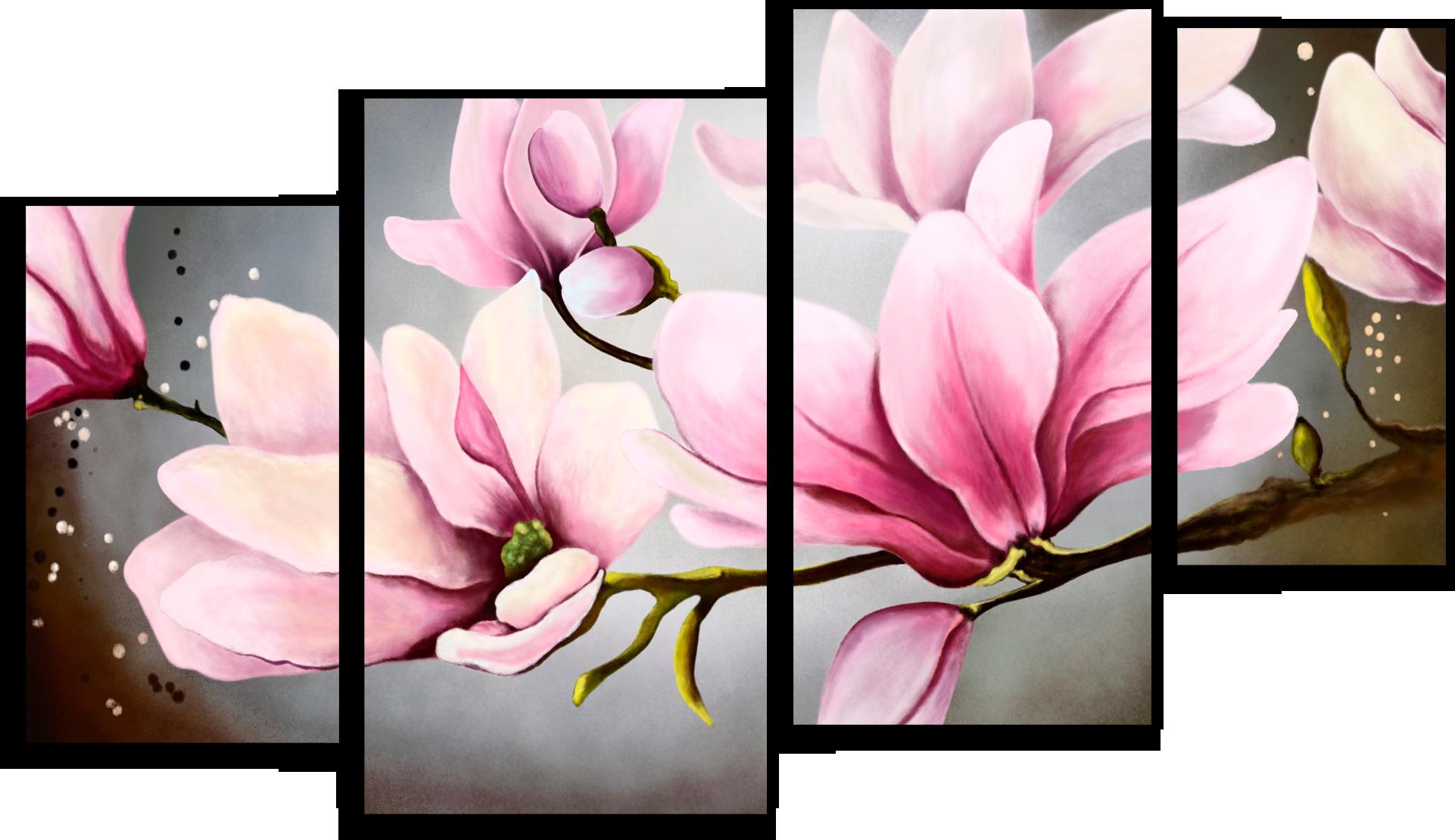 """Модульные картины Модульная картина """"Нежные цветы"""" М47.png"""