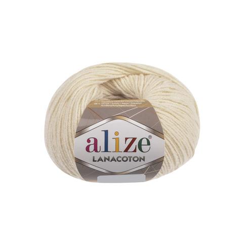 Купить Пряжа Alize Lanacoton Код цвета 001 | Интернет-магазин пряжи «Пряха»