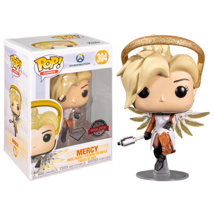Фигурка Funko POP! Vinyl: Games: Blizzard 30th: Mercy (DGLT) (Exc) 52849