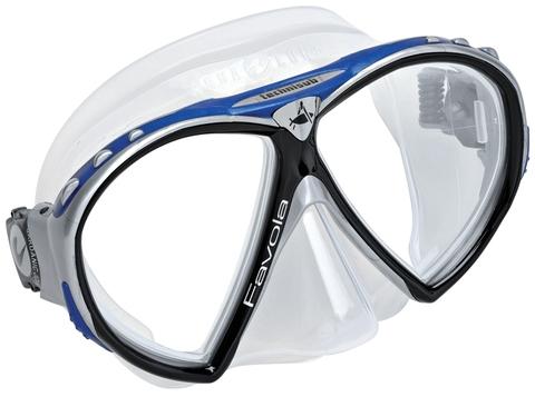 Маска Favola AquaLung Technisub черно-серо-синяя
