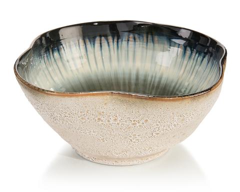 White and Smalt Blue Bowl