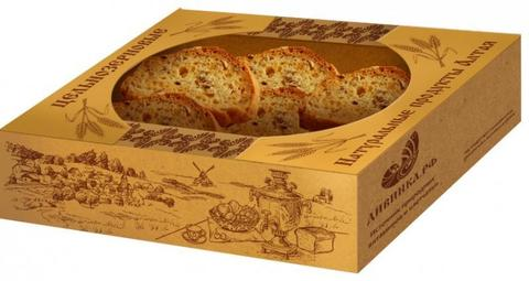 Сухари цельнозерновые с семенами льна и горчицей, 270 гр. (Дивинка)