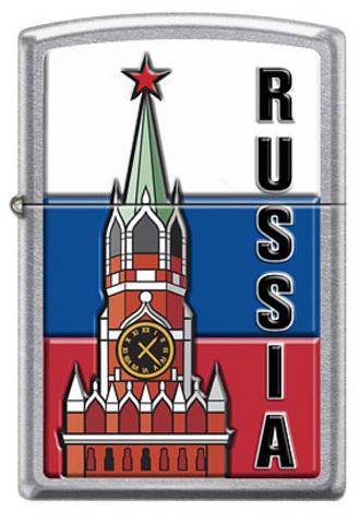Зажигалка Zippo Московский кремль, латунь/сталь с покрытием Street Chrome™, серебристая, 36x12x56 мм123