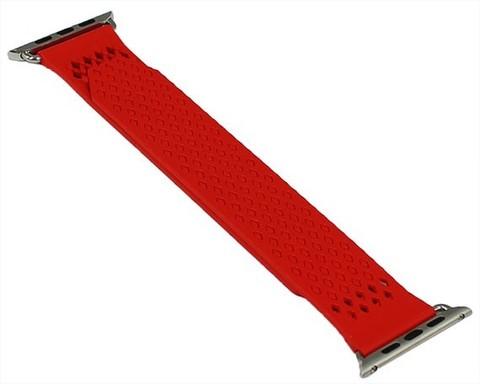 Ремешок для Apple Watch 42mm/44mm косая клетка | красный