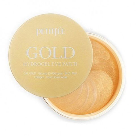 PETITFEE Гидрогелевые патчи для глаз  ЗОЛОТО PETITFEE Gold Hydrogel Eye Patch, 60 шт