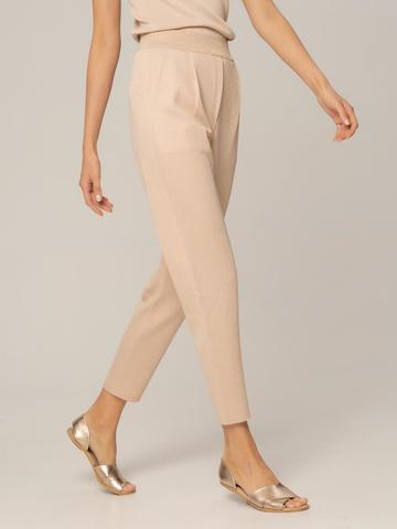 Женские брюки песочного цвета из вискозы - фото 3