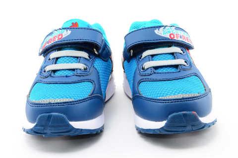 Светящиеся кроссовки для мальчиков Энгри Бердс (Angry Birds) на липучках, цвет синий, мигает картинка сбоку. Изображение 5 из 13.