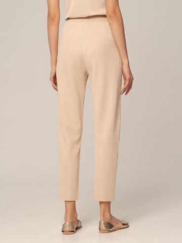 Женские брюки песочного цвета из вискозы - фото 5