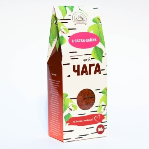 Чага-чай Березовый с саган-дайля, 50г (Хелпер Мед)