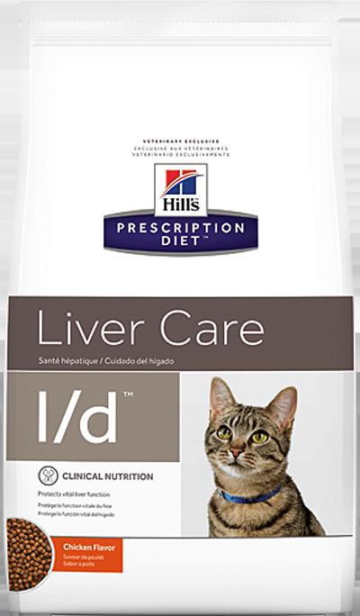 Сухой корм Ветеринарный корм для кошек Hill`s Prescription Diet l/d Liver Care, при заболеваниях печени, с курицей лд.png