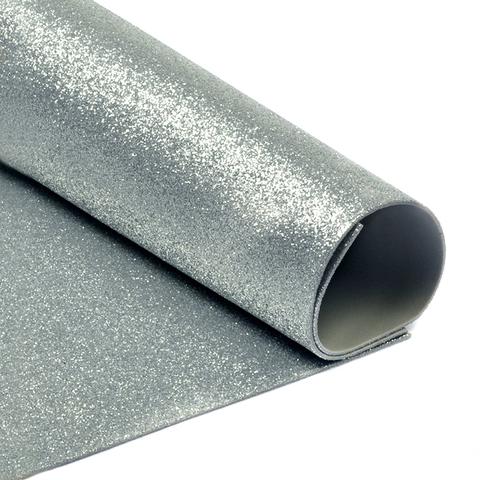Глиттерный фоамиран. Цвет: серебро
