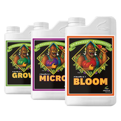 Комплект минеральных удобрений Grow, Micro, Bloom 1L от Advanced Nutrients
