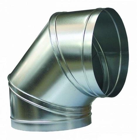 Отвод (угол) 90 градусов D 315 оцинкованная сталь