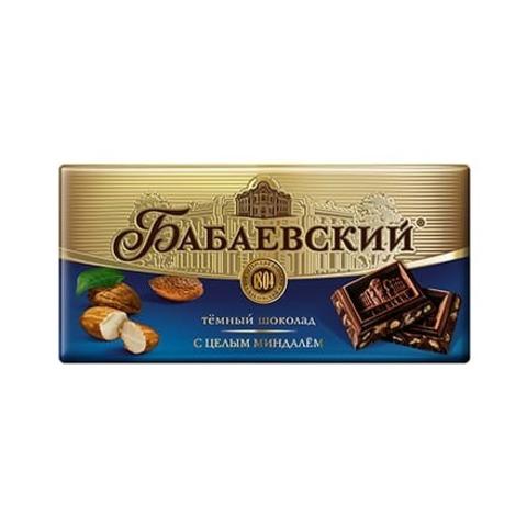 Шоколад Бабаевский темный с целым миндалем, 100 гр.