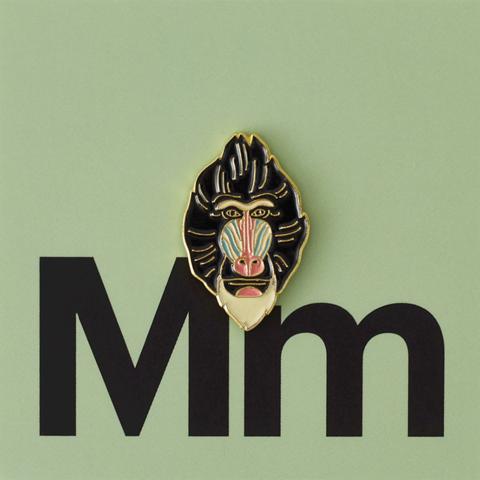 Значок металлический Зоопарк: Мандрил