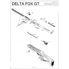 Пневматическая винтовка Gamo Delta Fox GT 4,5 мм 3J (переломка, пластик)