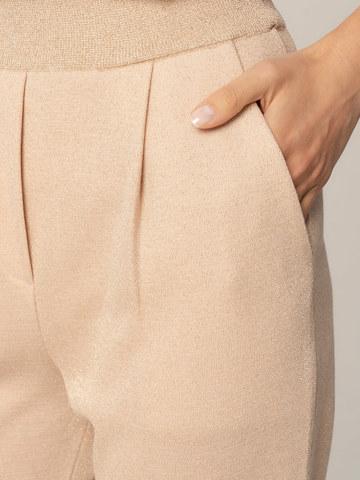 Женские брюки песочного цвета из вискозы - фото 6