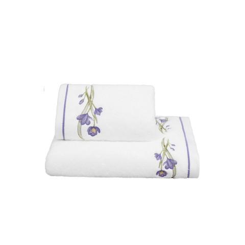 Blossom (лиловое) полотенце махровое Soft Cotton (Турция)