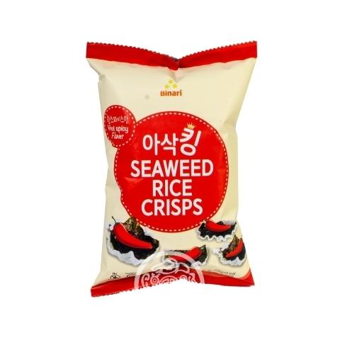 Чипсы рисовые с морской капустой со вкусом острого перца 30гр Humanwell Корея