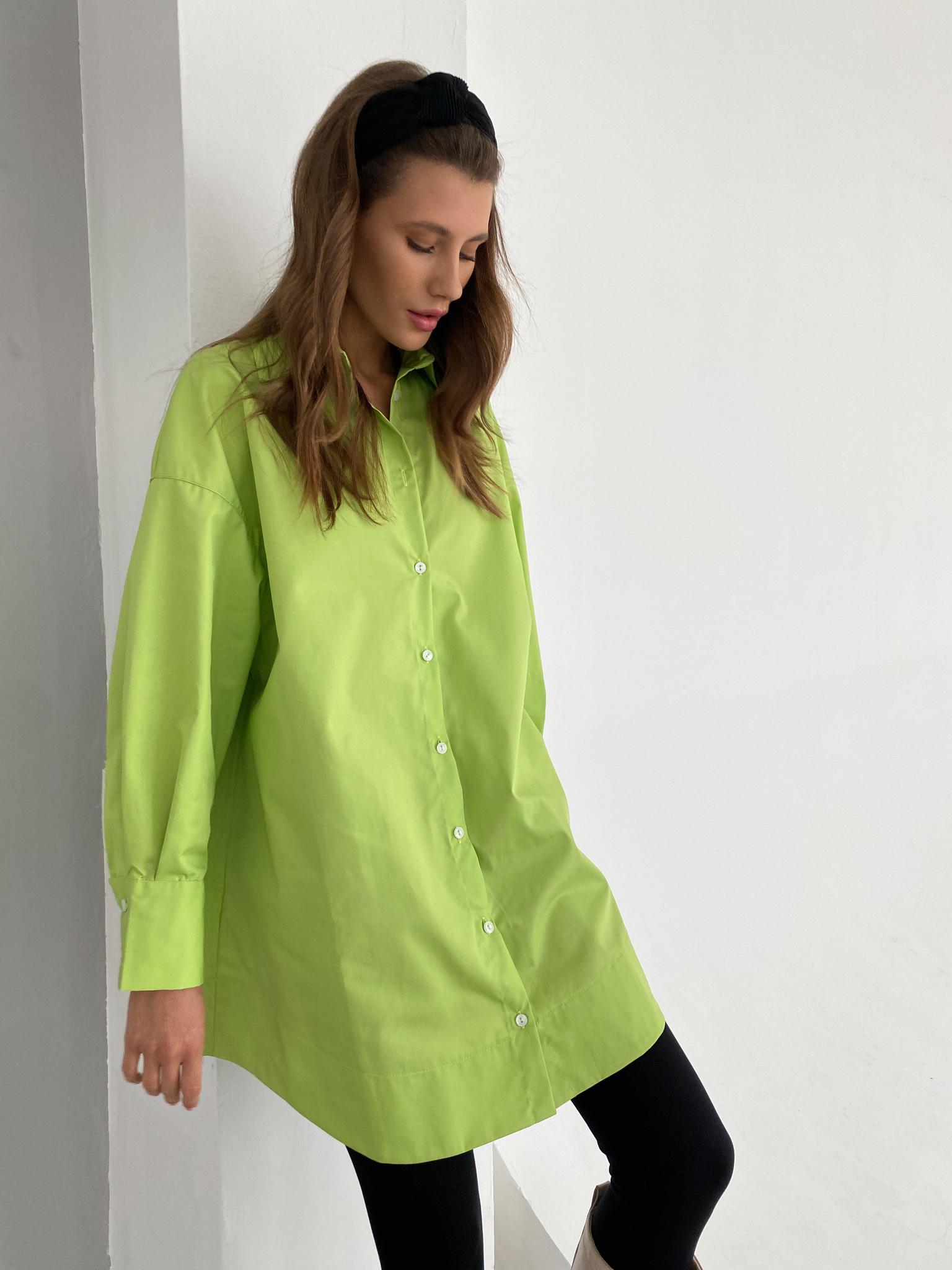 Платье-рубашка свободного кроя (лайм)