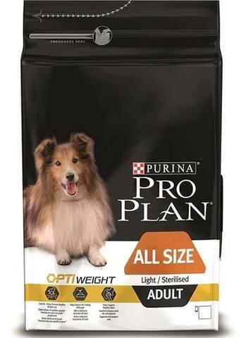 PURINA PRO PLAN Сухой корм для стерилизованных и склонных к ожирению взрослых собак с курицей All Size Adult Light/Sterilised