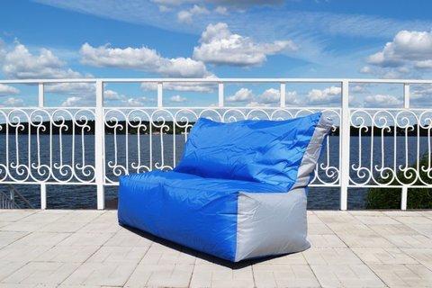 Кресло-мешок «Диван» Сине-серый