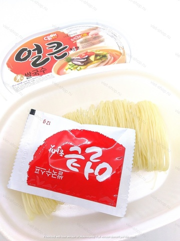 Корейская рисовая вермишель вкус острой говядины, 92 гр.
