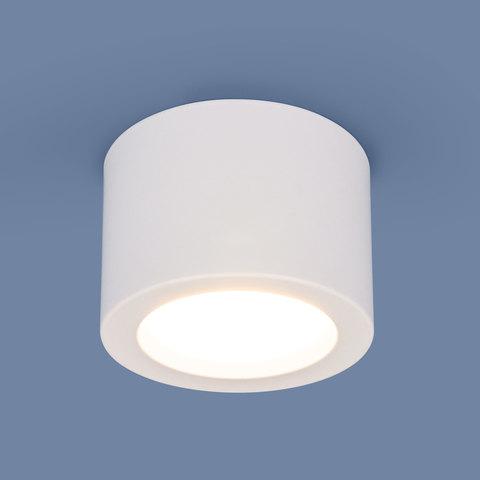 Накладной потолочный  светодиодный светильник DLR026 6W 4200K белый матовый