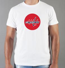 Футболка с принтом НХЛ Вашингтон Кэпиталз (NHL Washington Capitals) белая 0010