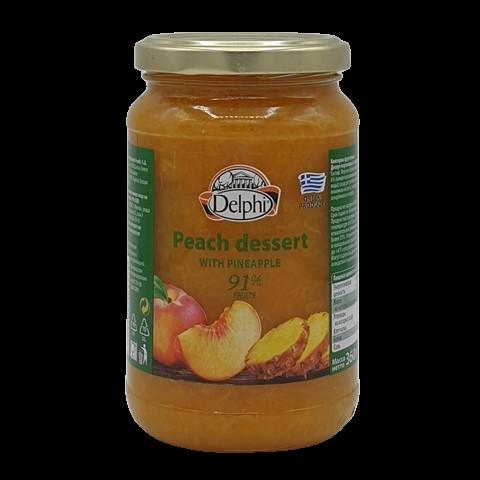 Десерт персиковый с ананасом DELPHI, 360 гр