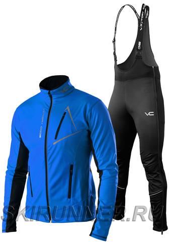 Утеплённый лыжный костюм 905 Victory Code Dynamic 2019 Blue с высокой спинкой мужской