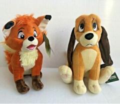 Лис и пес мягкие игрушки