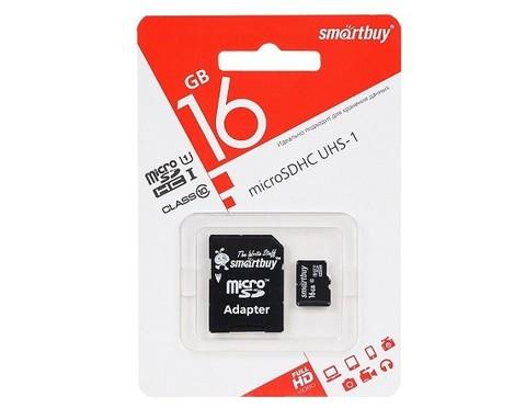 SmartBuy / Карта памяти 16GB класс 10 | поддержка UHS-I, SD-адаптер