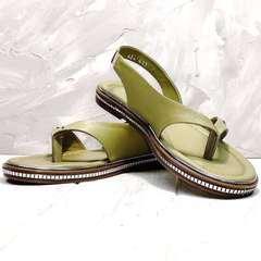 Шлепанцы сандалии женские Evromoda 454-411 Olive.