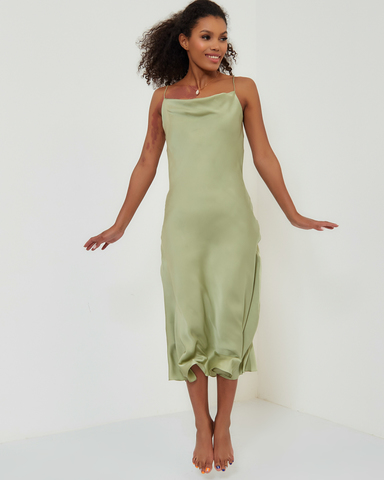 Платье-комбинация в цвете