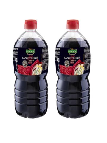 Соевый Соус Sen Soy Классический бутылка ПЭТ 2 штуки по 1 литру 1кор*1бл*2шт