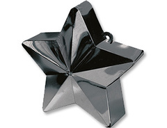 Грузик д/шара Звезда черная 170гр