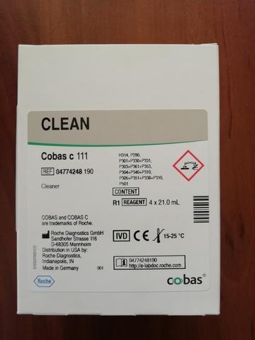 Детергент 1 (NAOH-D) (Detergent I (NAOH-D)) Cobas c 111, 4х21мл Roche Diagnostics GmbH, Германия