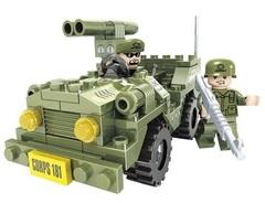 Конструктор серия Армия Джип с ракетной установкой
