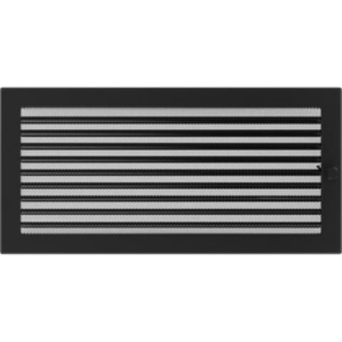 Вентиляционная решетка Черная с задвижкой (22*45) 22/45CX