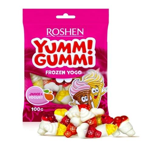 Конфеты ROSHEN Yummi Gummi Frozen Yogo желейные 100 г УКРАИНА