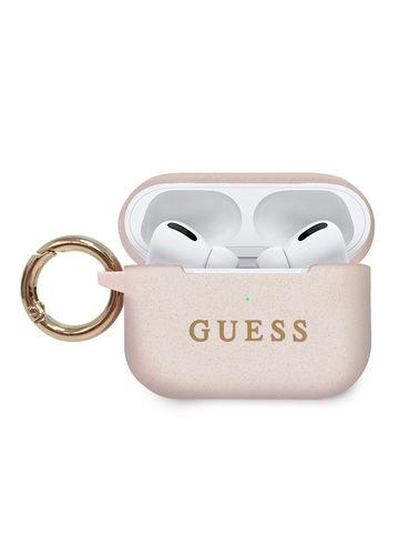Guess / Чехол для Airpods Pro Silicone case с кольцом | светло-розовый
