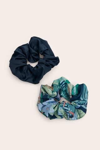 Набір з 2 резинок для волосся з текстилю